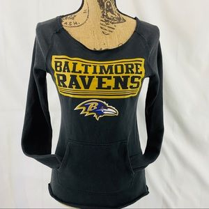 NFL Baltimore Ravens Sweatshirt Thermal Sleeves